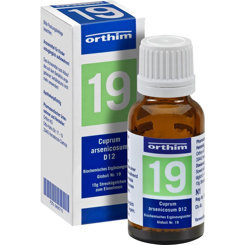 09490715, Biochemie Globuli Nr.19 Cuprum arsenicosum D12, 15 G