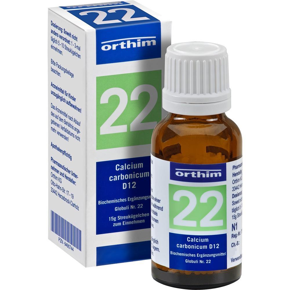 09490744, Biochemie Globuli Nr.22 Calcium carbonicum D12, 15 G