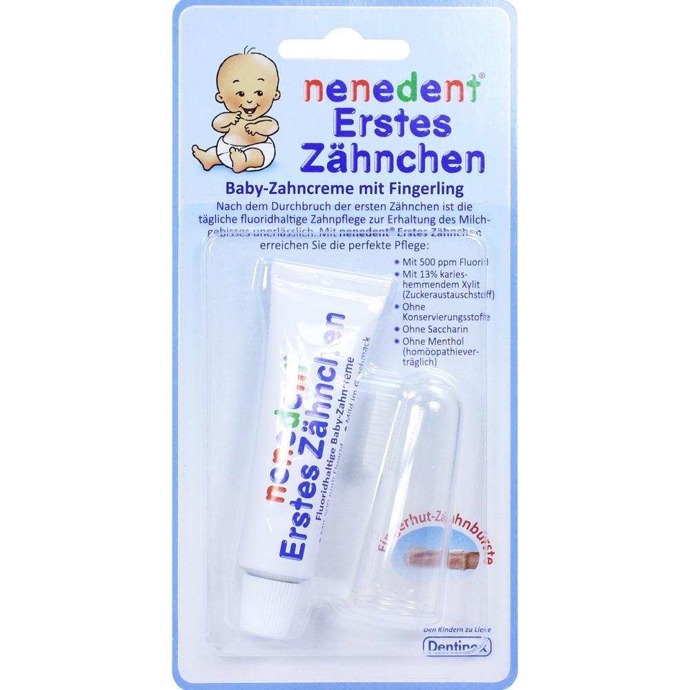 09521114, nenedent Erstes Zähnchen Baby Zahncreme+Fingerling, 15 ML