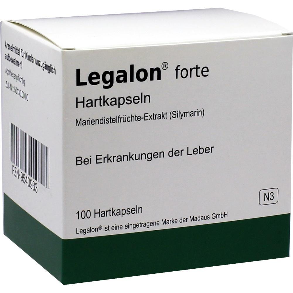 09540933, Legalon forte Hartkapseln, 100 ST