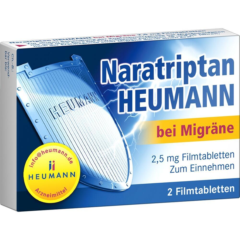 09542263, Naratriptan Heumann bei Migräne 2.5 mg Filmtabl., 2 ST