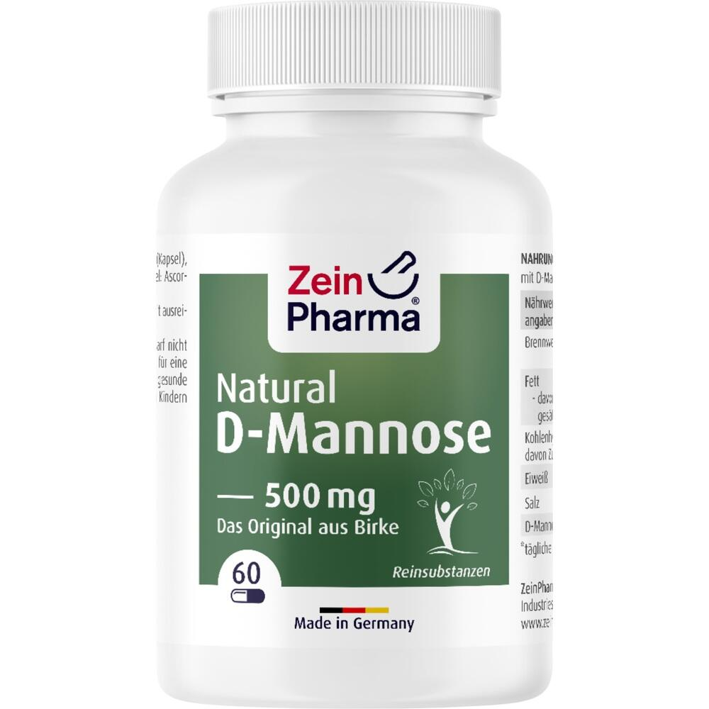 09612319, Natural D-Mannose 500mg, 60 ST