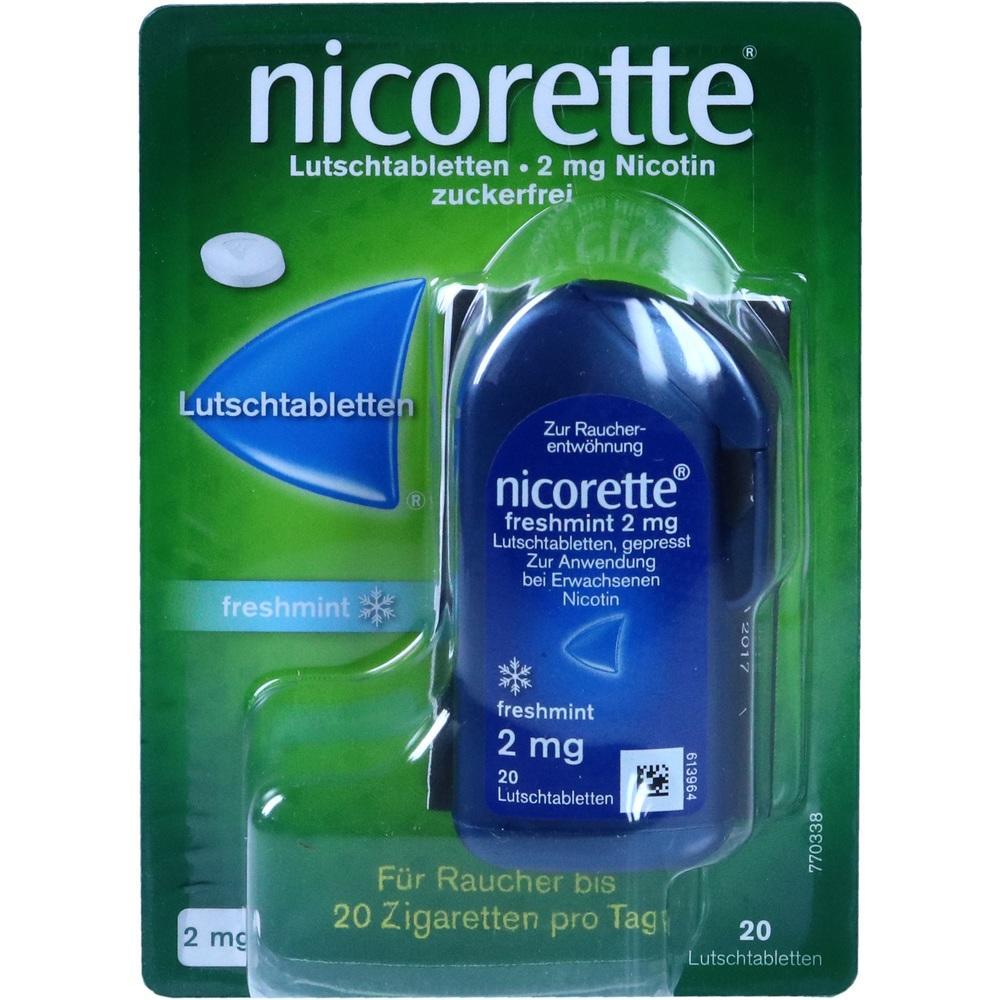 09633899, Nicorette freshmint 2mg Lutschtabletten gepresst, 20 ST