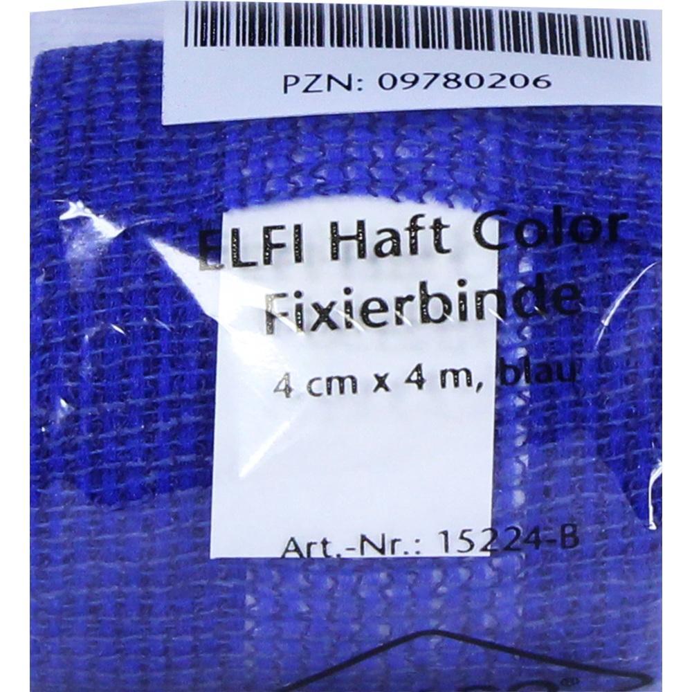 09780206, DracoElfi haft color Fixierbinde 4cmx4m blau, 1 ST