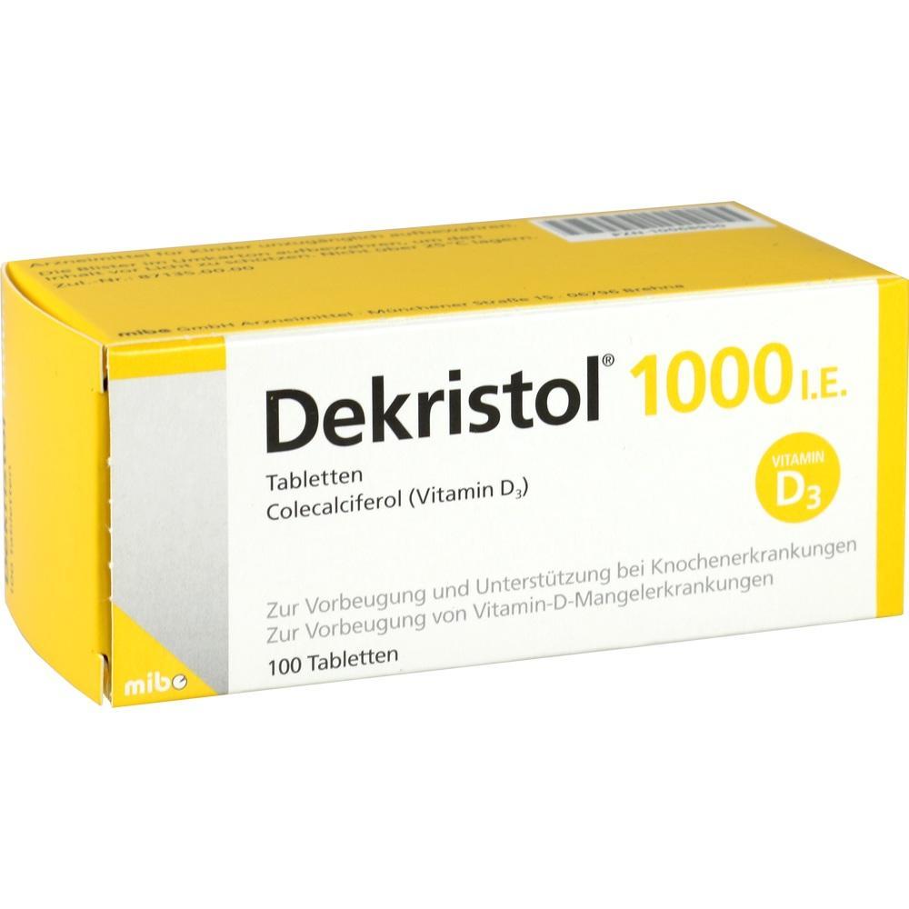 10068950, Dekristol 1000 I.E. Tabletten, 100 ST