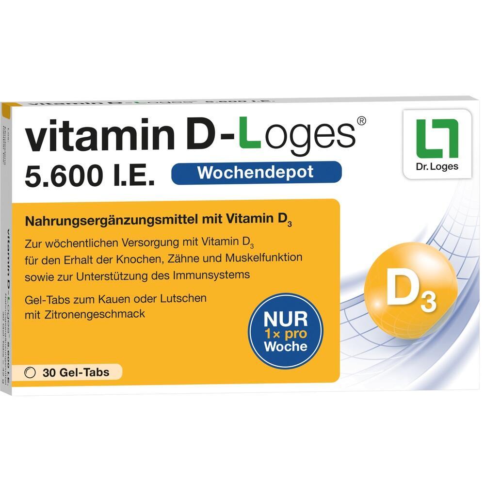 10073678, vitamin D-Loges 5.600 I.E., 30 ST