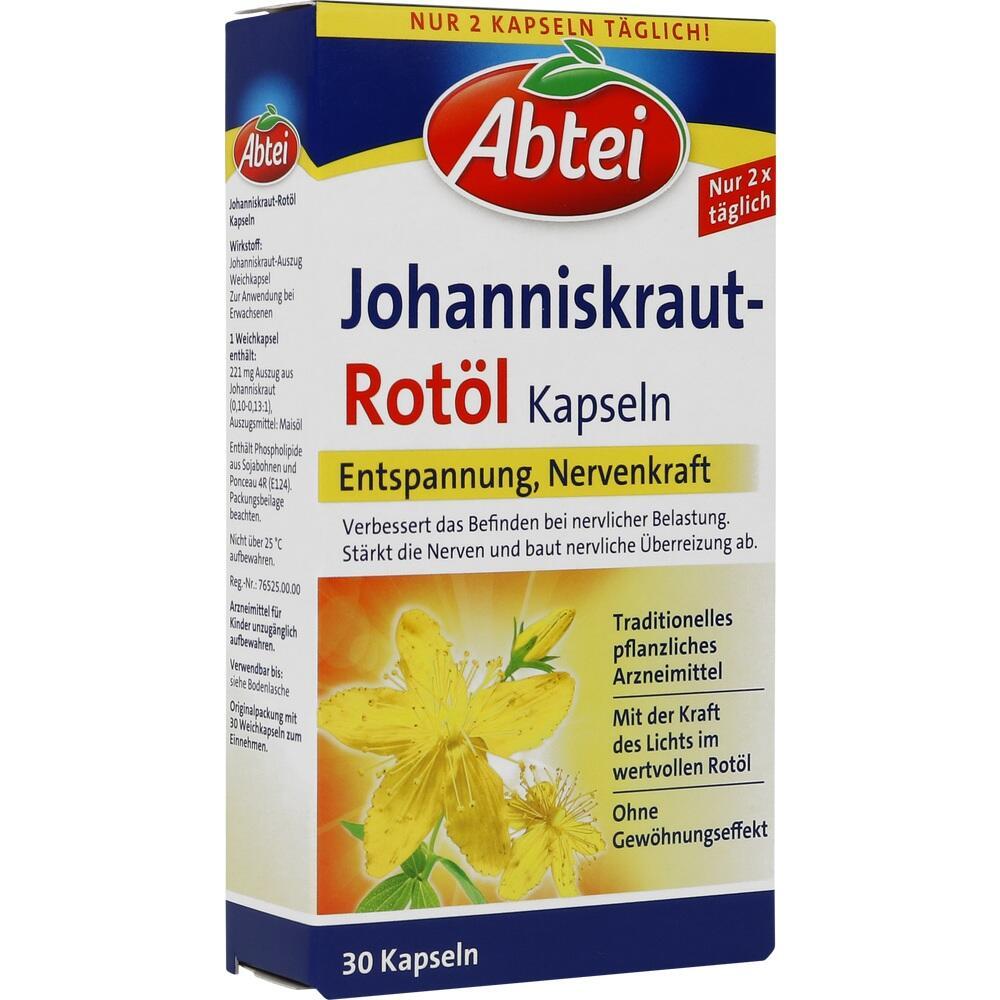 10169438, Abtei Johanniskraut-Rotöl Kapseln, 30 ST