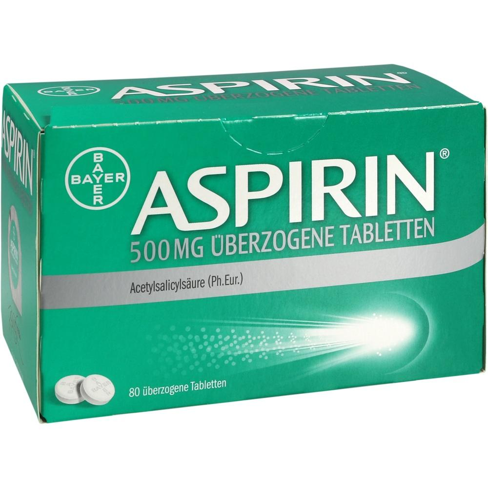 10203632, Aspirin 500mg überzogene Tabletten, 80 ST