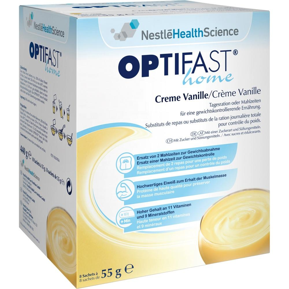 10267856, OPTIFAST home Creme Vanille, 8X55 G