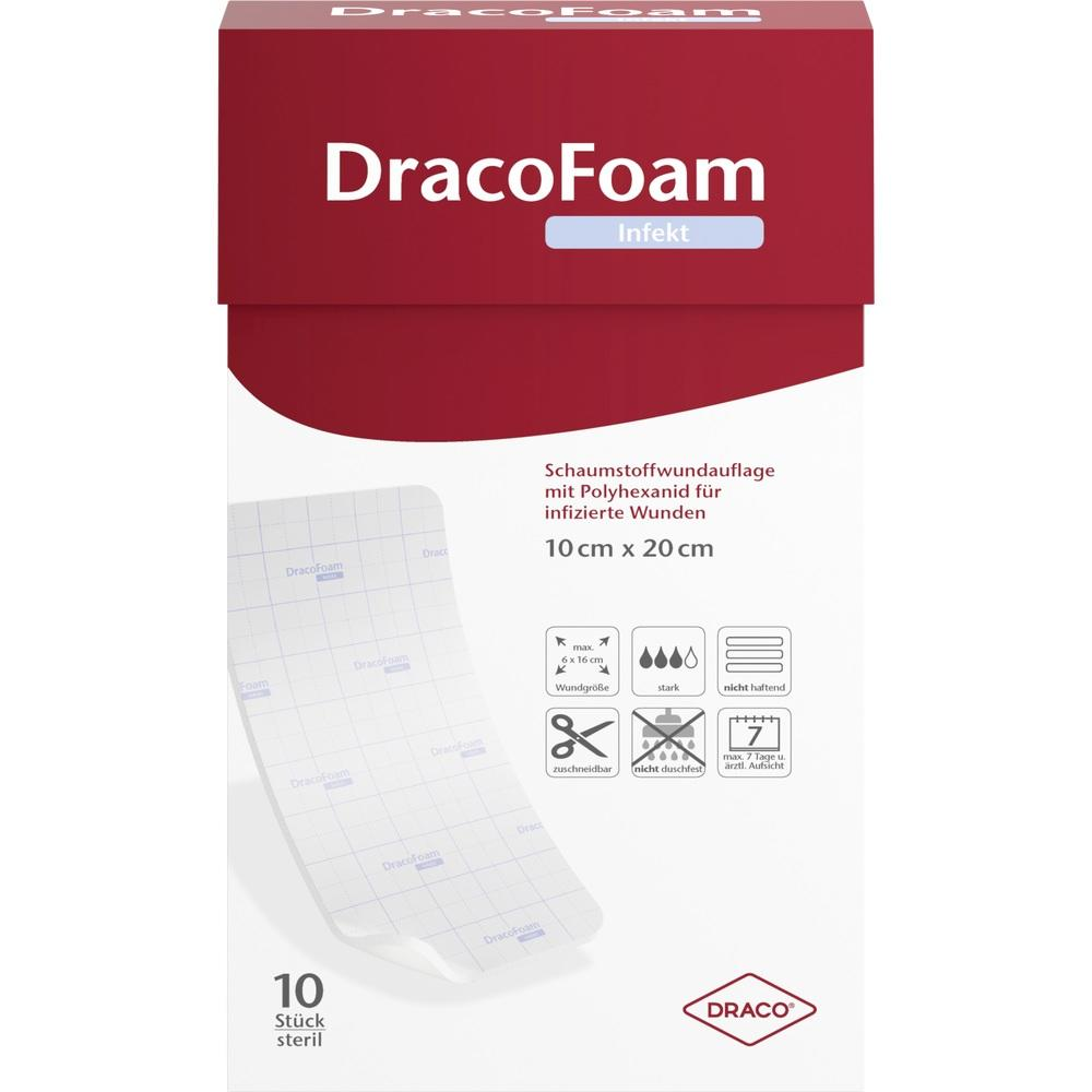 10317620, DracoFoam Infekt Schaumstoff Wundauf.10x20cm, 10 ST