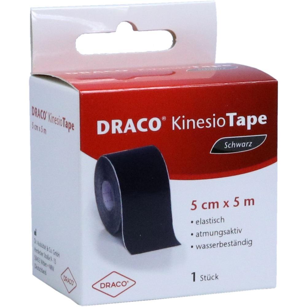 10330187, Draco Kinesiotape 5mx5cm schwarz, 1 ST