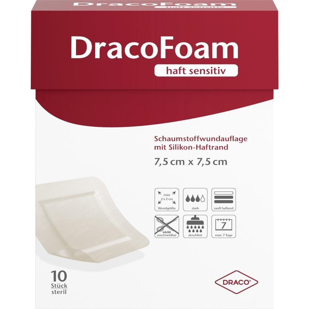 10342078, DracoFoam haft sensitiv Schaumst. 7.5x7.5cm, 10 ST