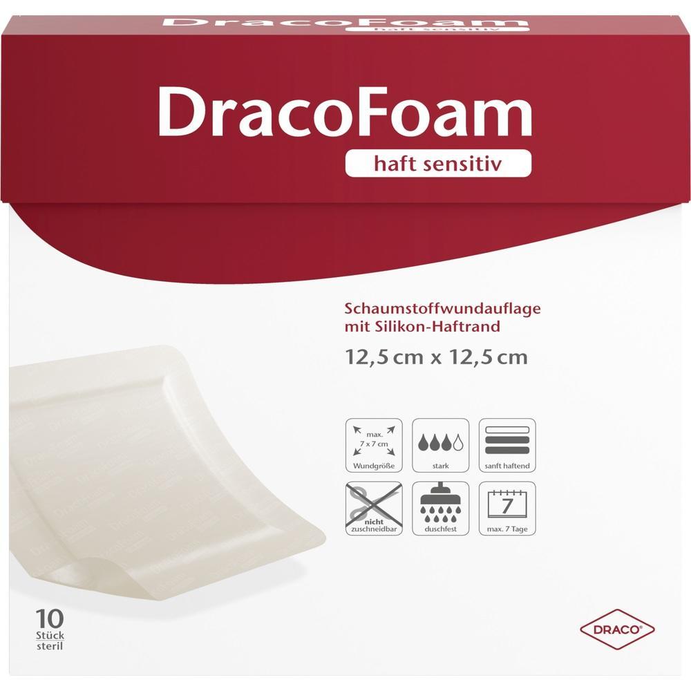 10342144, DracoFoam haft sensitiv Schaumst. 12.5x12.5cm, 10 ST