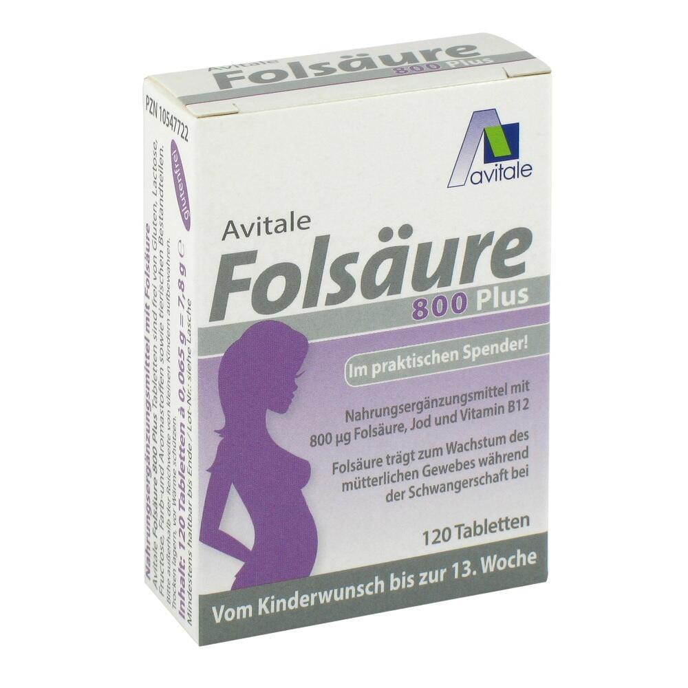 10547722, Folsäure 800 Plus B12 + Jod, 120 ST