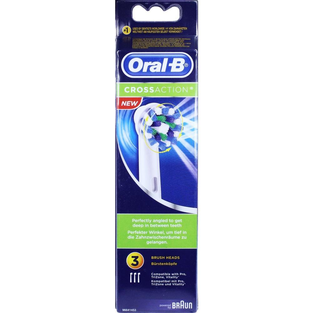 10763029, Oral-B Cross Action Aufsteckbürste 3er, 3 ST