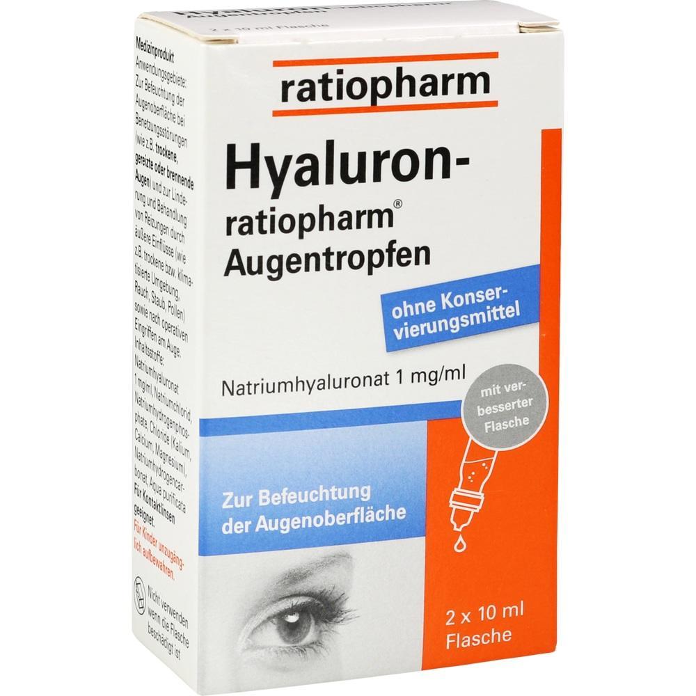 10810220, Hyaluron-ratiopharm Augentropfen, 2X10 ML