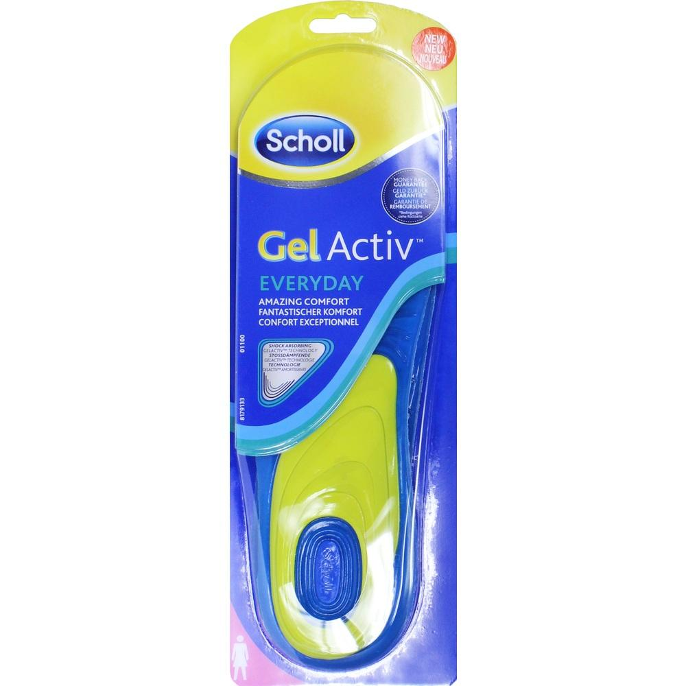 10820980, Scholl GelActiv Einlegesohle Everyday Women, 2 ST