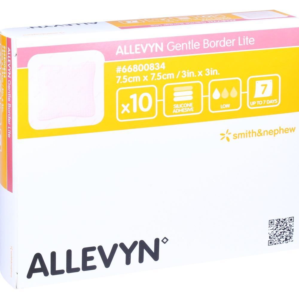 ALLEVYN Gentle Border Lite 7,5x7,5 cm Schaumverb.