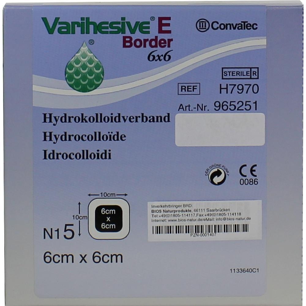 Varihesive E Border 6x6 cm HKV Hydroaktiv