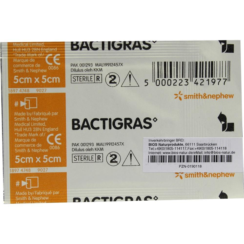 Bactigras Paraffingaze 5x5cm