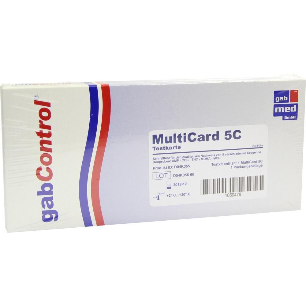 Drogentest Multi 5C AMP-COC-MOP-Mdma-THC Testk.