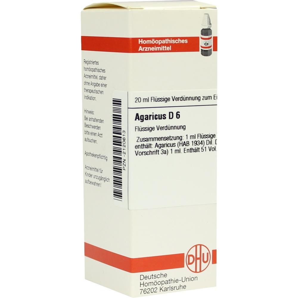 Agaricus D 6 Dilution