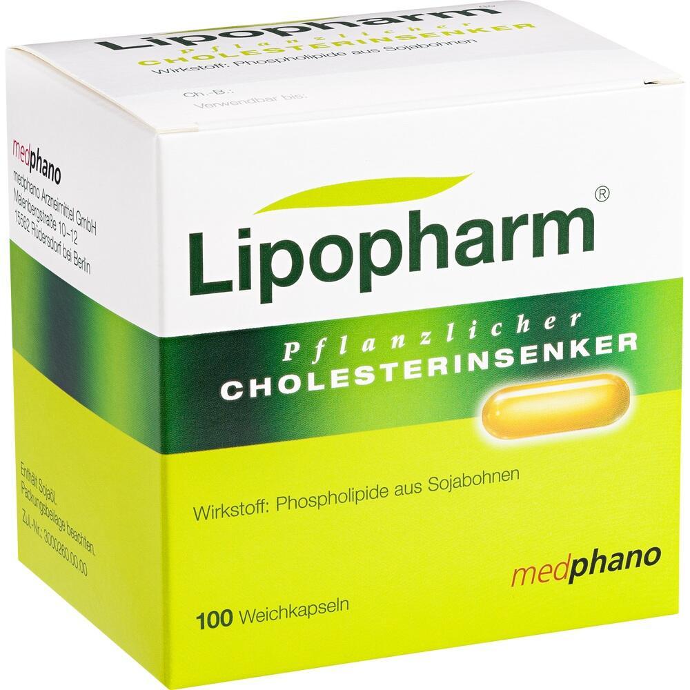 Lipopharm Pflanzlicher Cholesterinsenker Kapseln