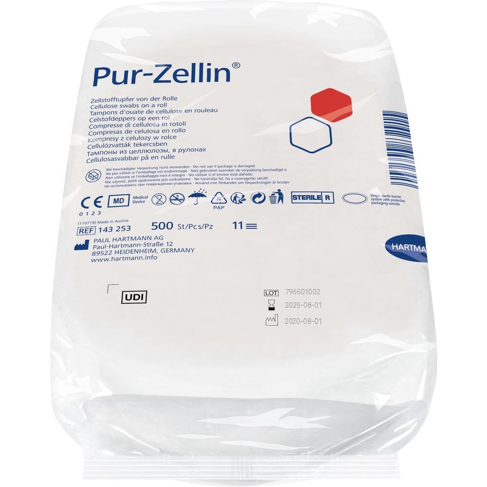 PUR Zellin 4x5 cm Steril Rolle zu 500 St.