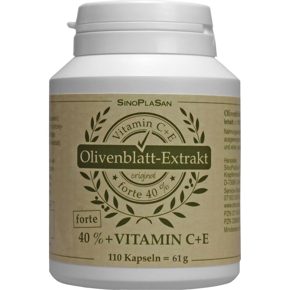 Olivenblatt-Extrakt Forte 40%+C+E Kapseln