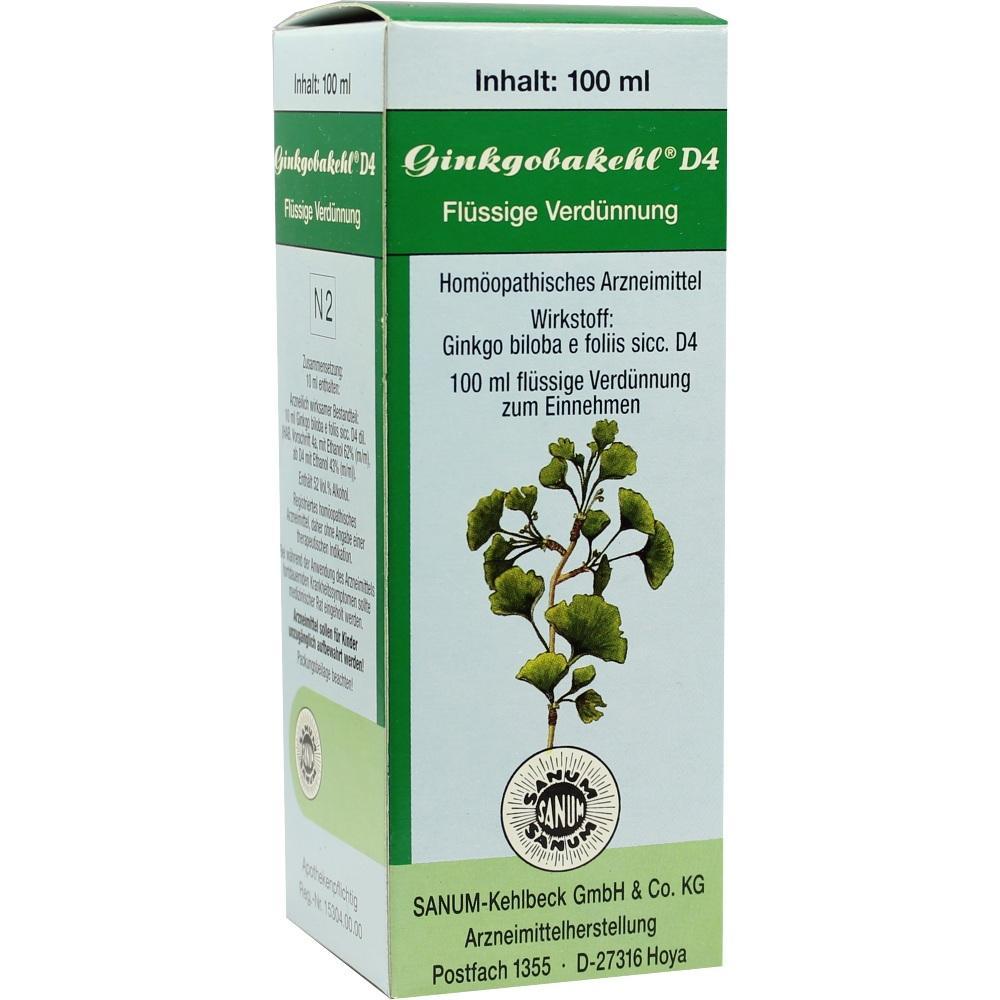 Ginkgobakehl D 4 Tropfen