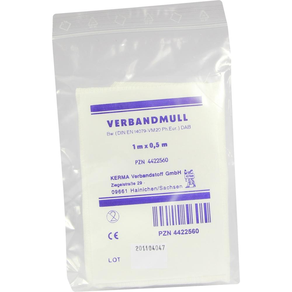 Verbandmull 0,5x1 m Unsteril