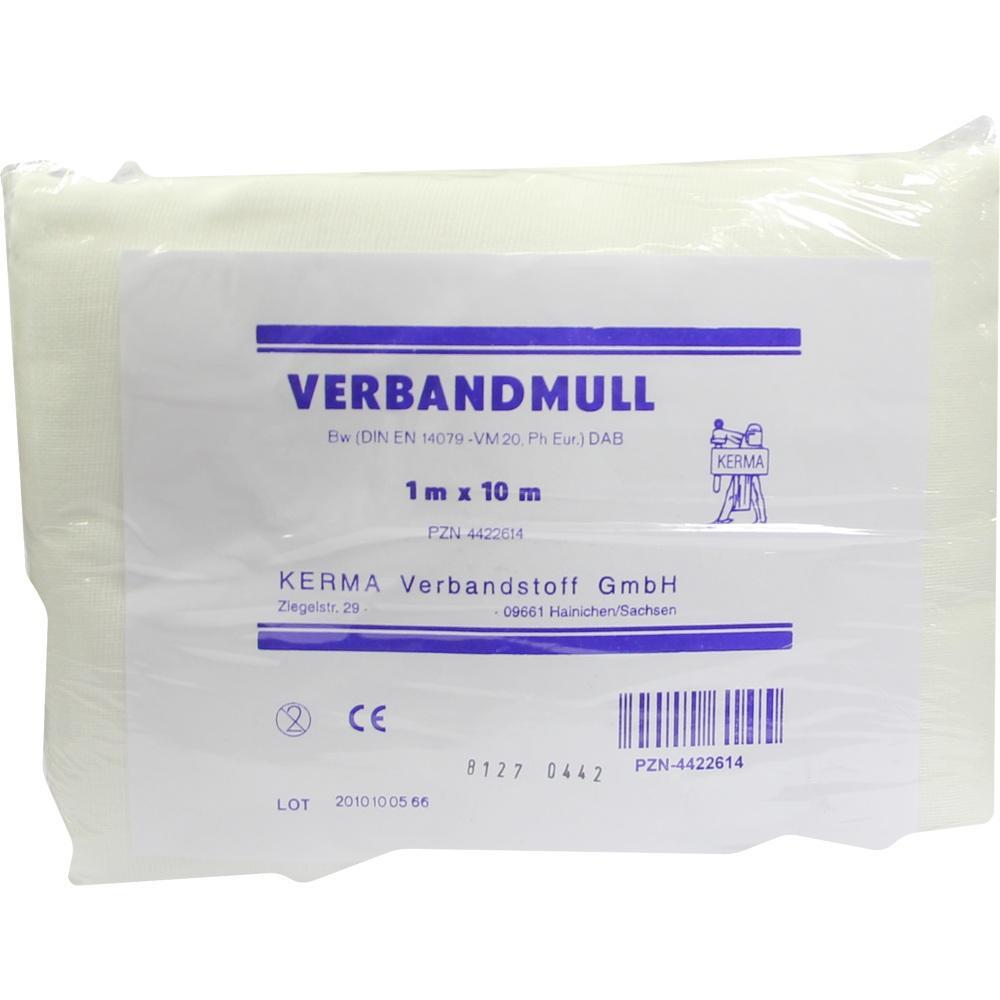 Verbandmull 1x10 m Unsteril