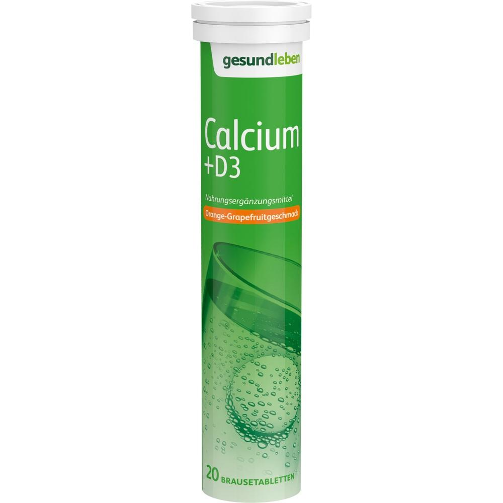 Gesund Leben Calcium 400 mg+D3 Br.Tabl.Röhrch.