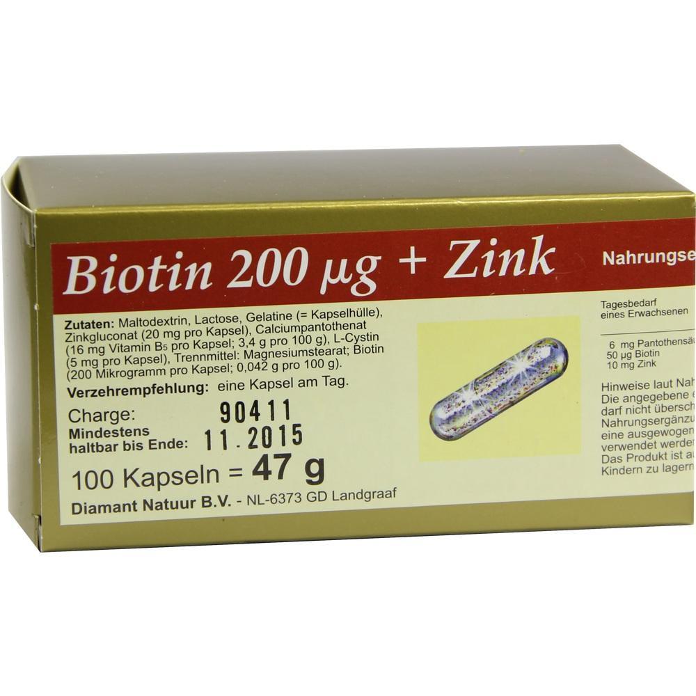 Biotin 200+Zink Kapseln