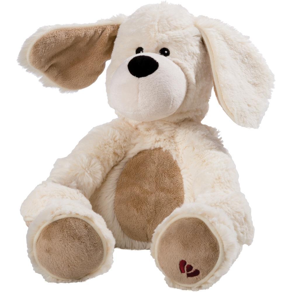 Wärme Stofftier Beddy Bear Hund beige