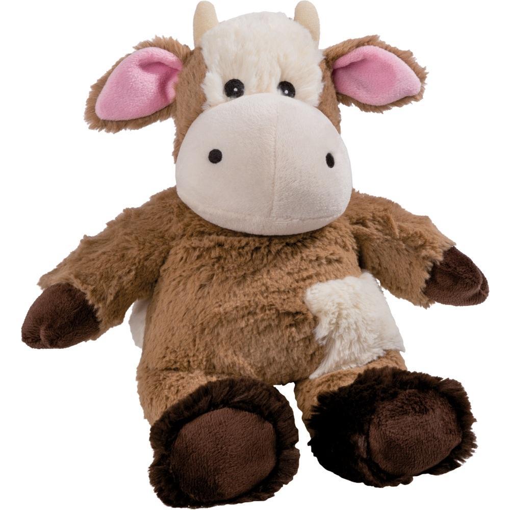 Wärme Stofftier Kuh braun