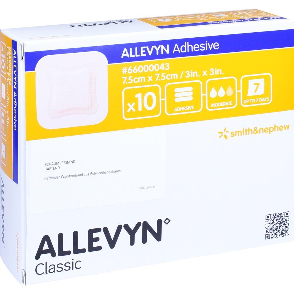 ALLEVYN Adhesive 7,5x7,5 cm haftende Wundauflage