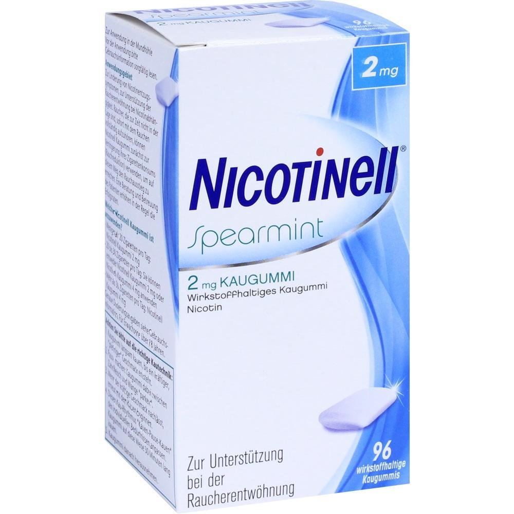 11100271, Nicotinell Spearmint 2 mg Kaugummi, 96 ST