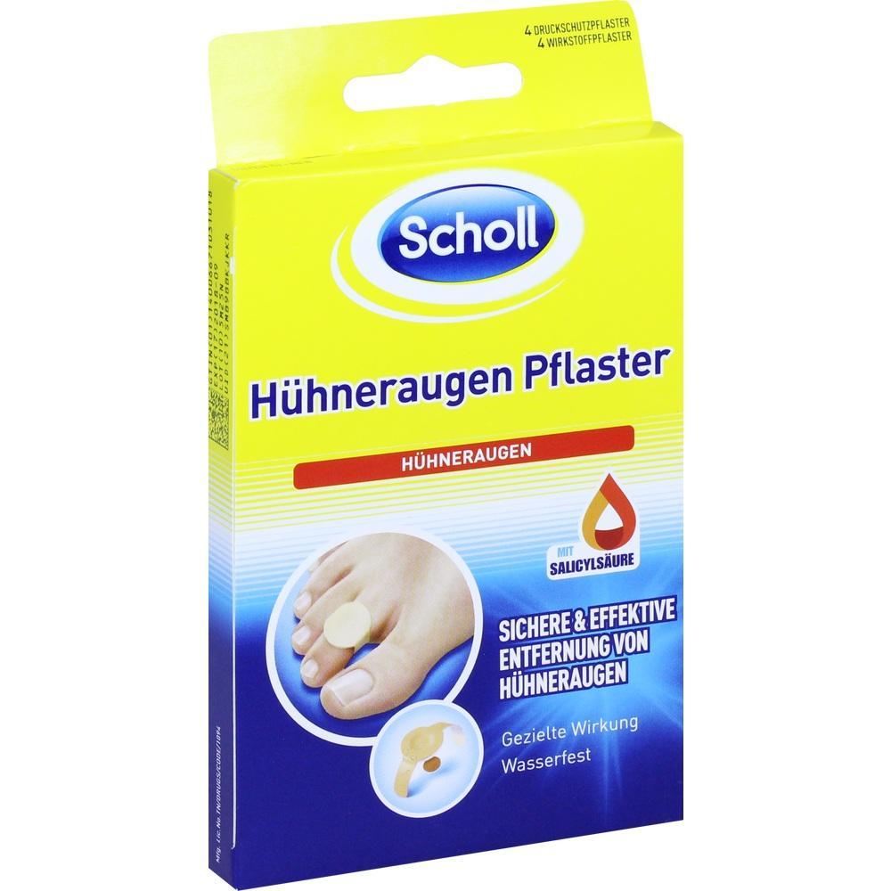 11136145, Scholl Hühneraugen Pflaster, 4 ST
