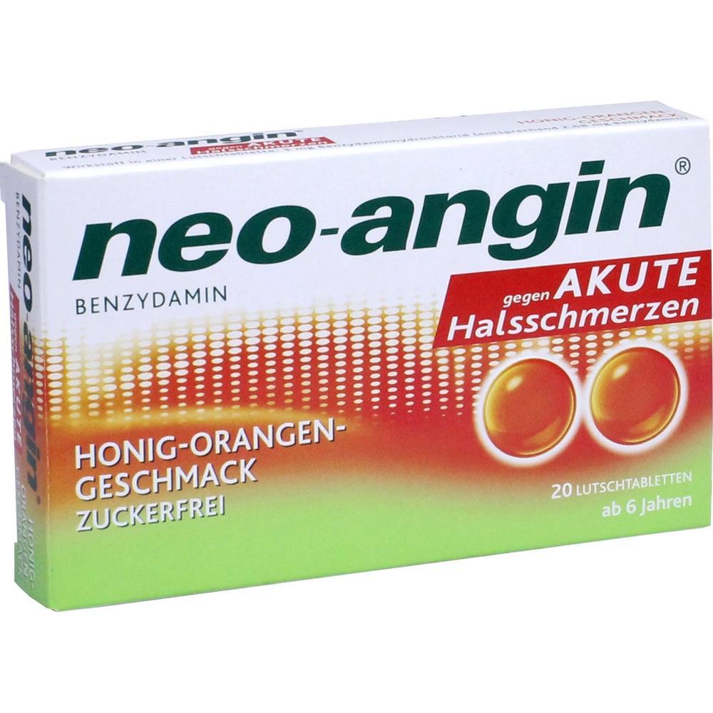 11160161, neo-angin Benzydamin akute Halsschmerz Honig-Orang, 20 ST