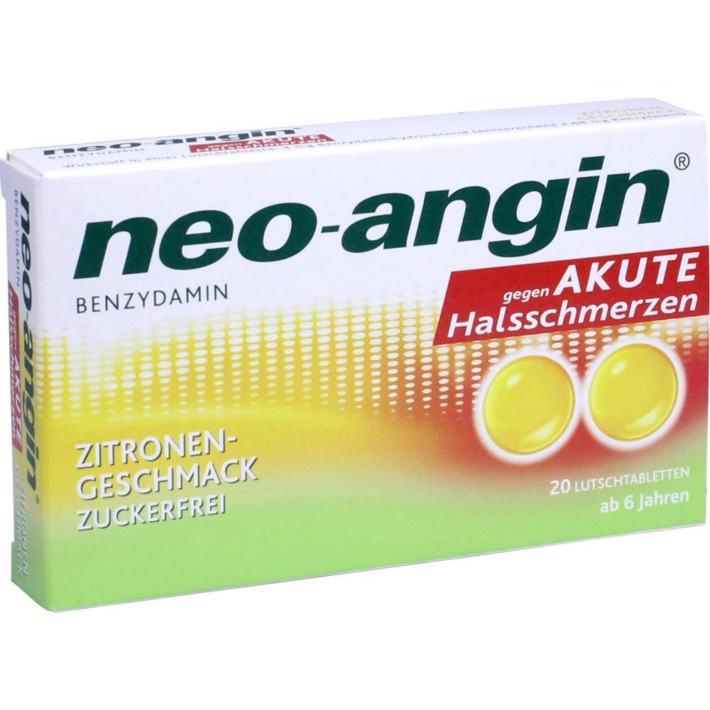 11160178, neo-angin Benzydamin akute Halsschmerz Zitrone, 20 ST