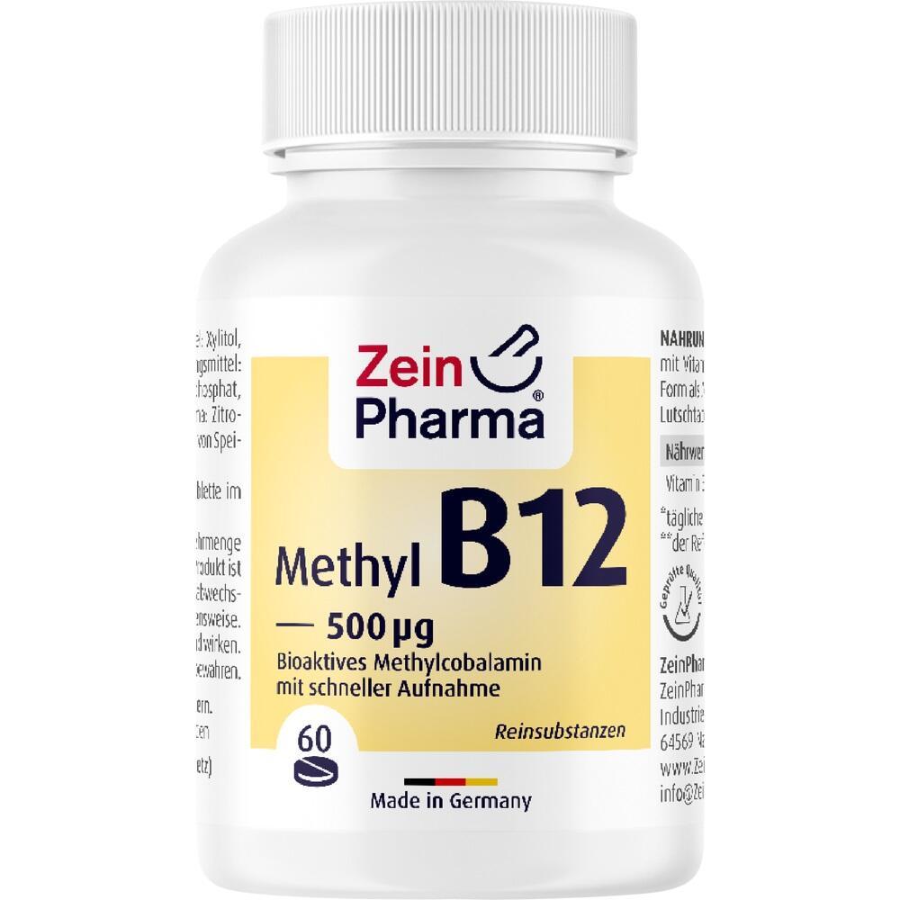 11161255, Vitamin B12 500ug - Methylcobalamin, 60 ST