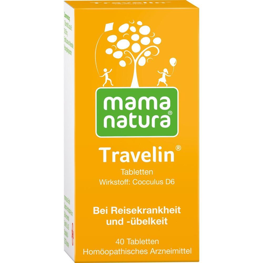 11304571, mama natura Travelin Reisetabletten, 40 ST