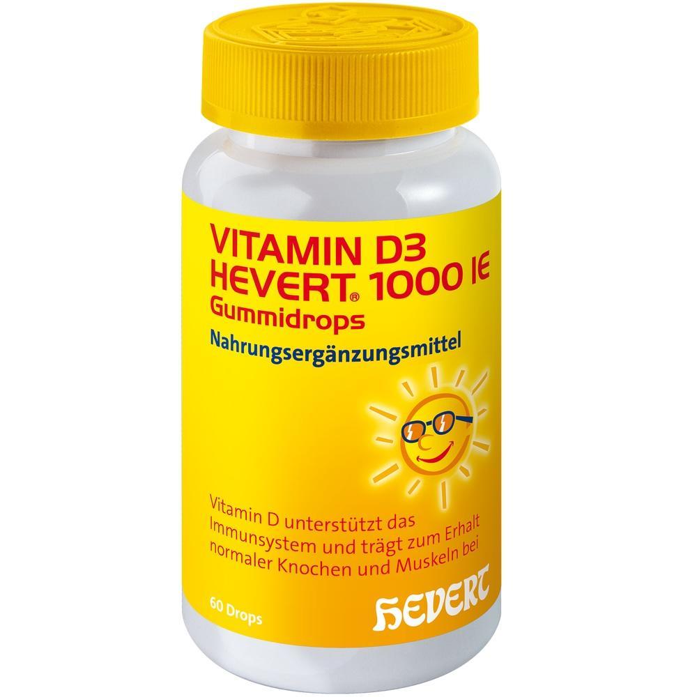11331881, Vitamin D3 Hevert 1000 IE Gummidrops, 60 ST