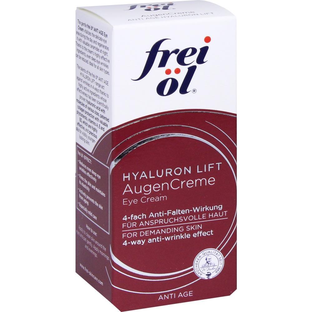 11359224, frei öl Anti Age Hyaluron Lift Augencreme, 15 ML