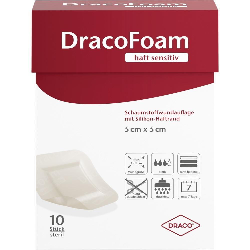 11376174, DracoFoam haft sensitiv 5x5cm, 10 ST