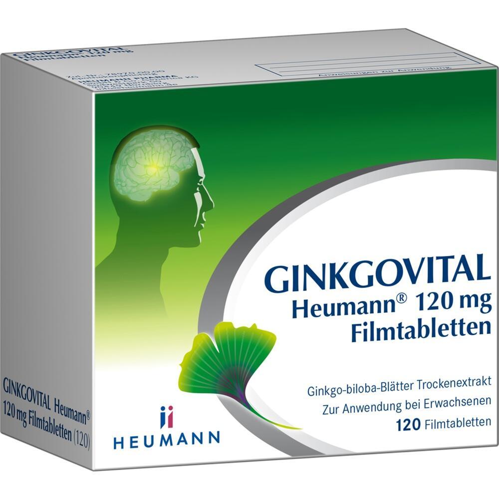 11526248, Ginkgovital Heumann 120 mg Filmtabletten, 120 ST