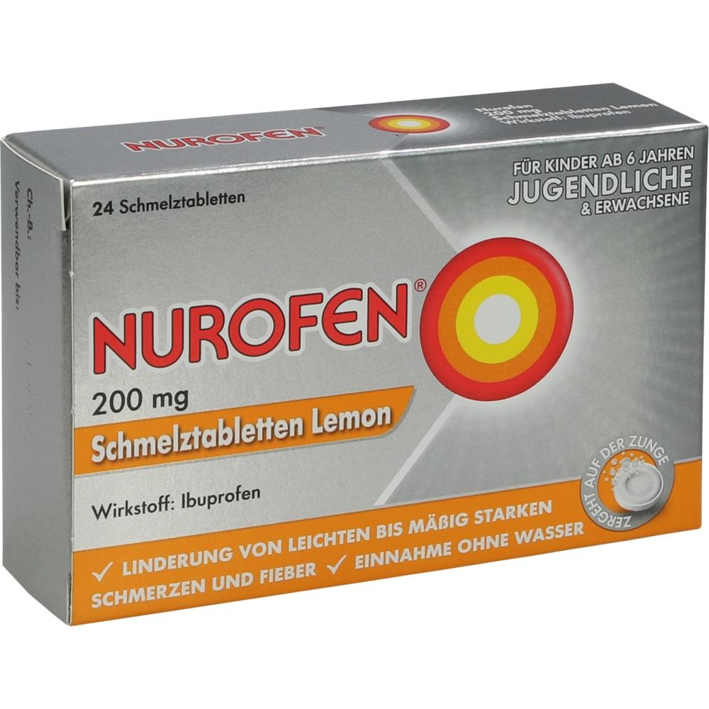 11550548, Nurofen 200 mg Schmelztabletten Lemon, 24 ST