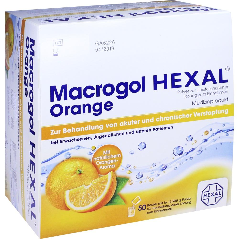 11553713, Macrogol HEXAL Orange, 50 ST