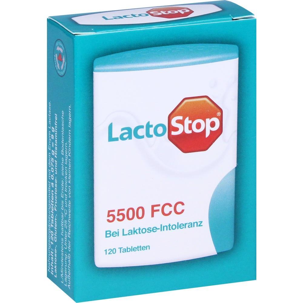 11578989, LACTOSTOP 5.500 FCC Tabletten im Klickspender, 120 ST